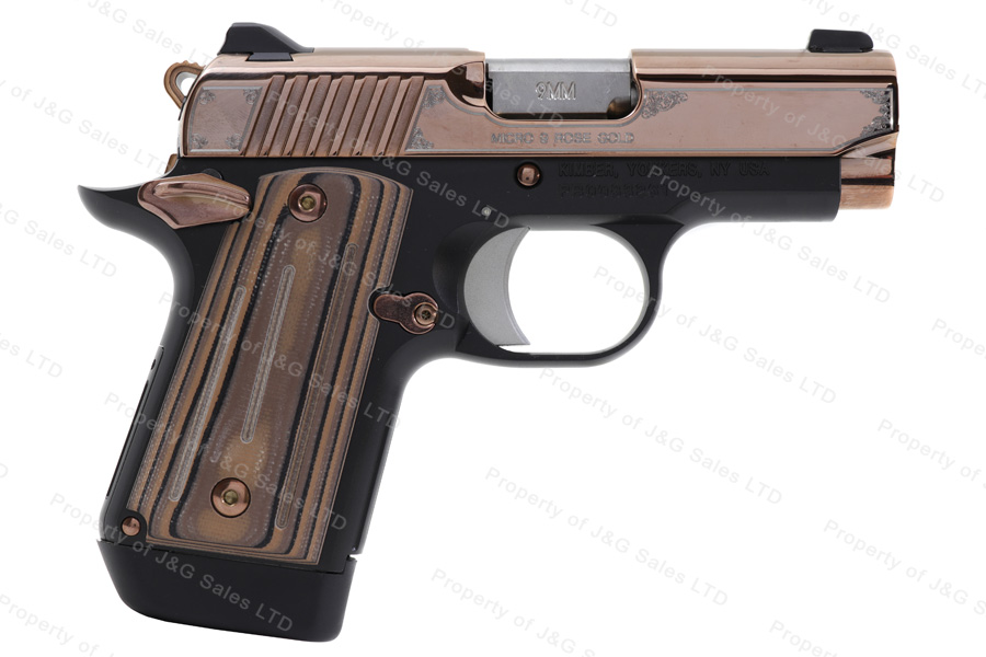 Kimber Micro 9 Rose Gold Semi Auto Pistol, 9mm, 3