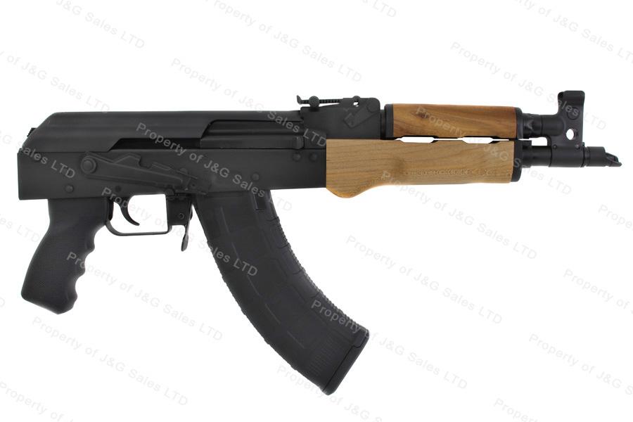 Century RAS47 US Draco AK Style Pistol, 7 62x39, Black, Wood Handguards,  New