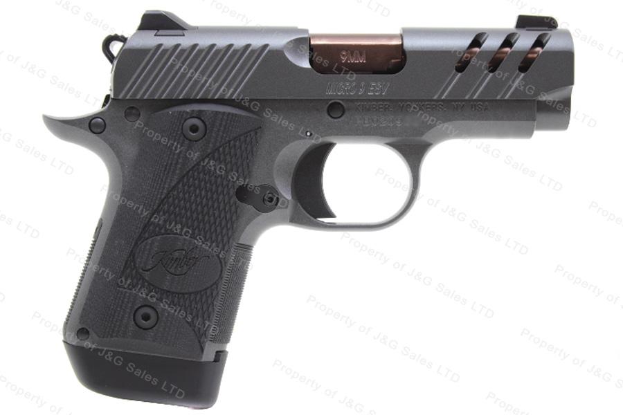 Kimber Micro 9 ESV Semi Auto Pistol, 9mm, 3 2