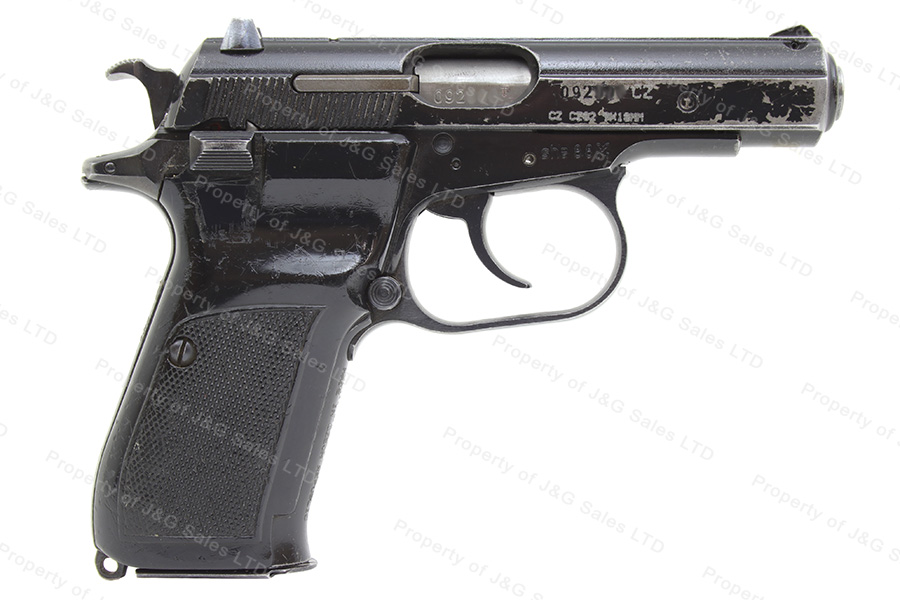 CZ 82 Czech Semi Auto Pistol, 9x18, Black, 12rd Mag, Good With Chipped  Grips, C&R, Used