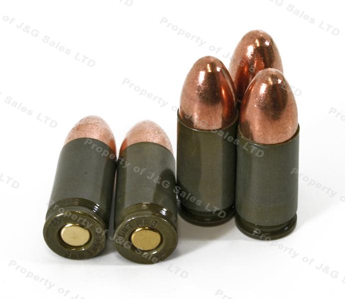 9mm brown bear 115gr fmj ammo 1000rds