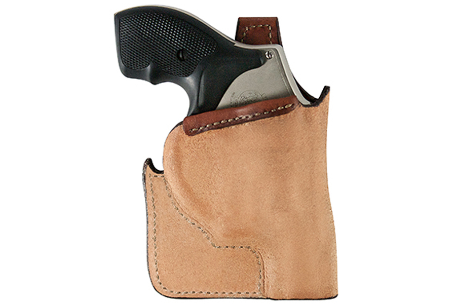 Bianchi #152 Right Handed Pocket Holster For Ruger® LCR® 38 Special Tan