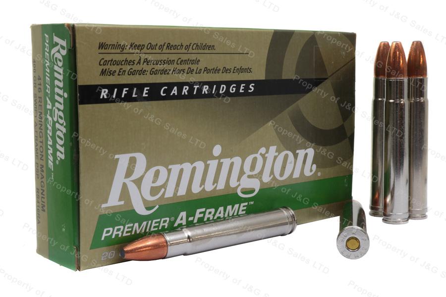 416 Rem Mag Remington Premier, 400gr Swift A-Frame PSP Ammo, 20rd Box, New