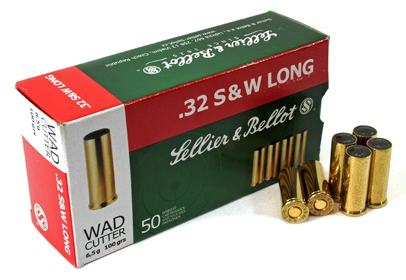 32 S&W Long S&B 100gr LWC Ammo, 50rd Box.