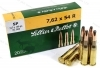 7.62x54R S&B 180gr SP Ammo, 20rd Box.