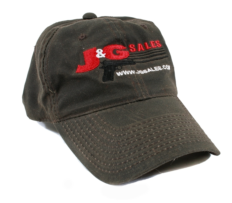 J&G Sales Waxed Canvas Ball Cap Hat, Brown