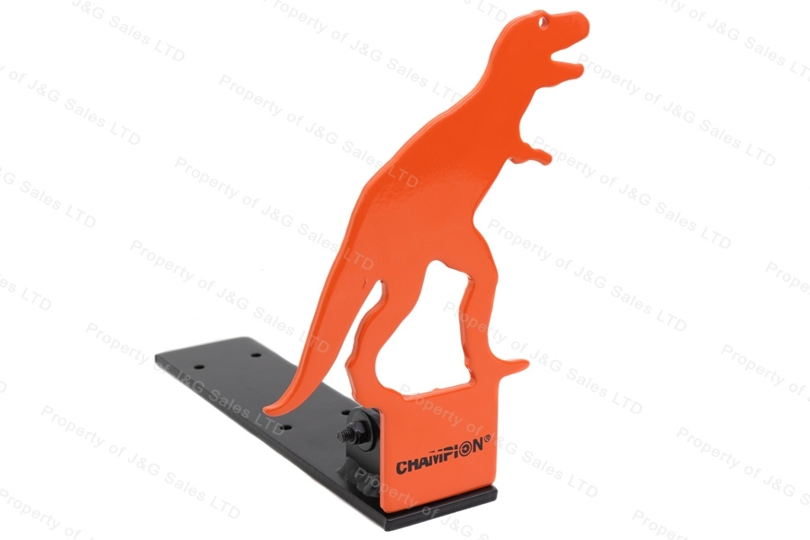 "Champion T-Rex 8.25"" .22 Rimfire Pop-Up Target, Orange"