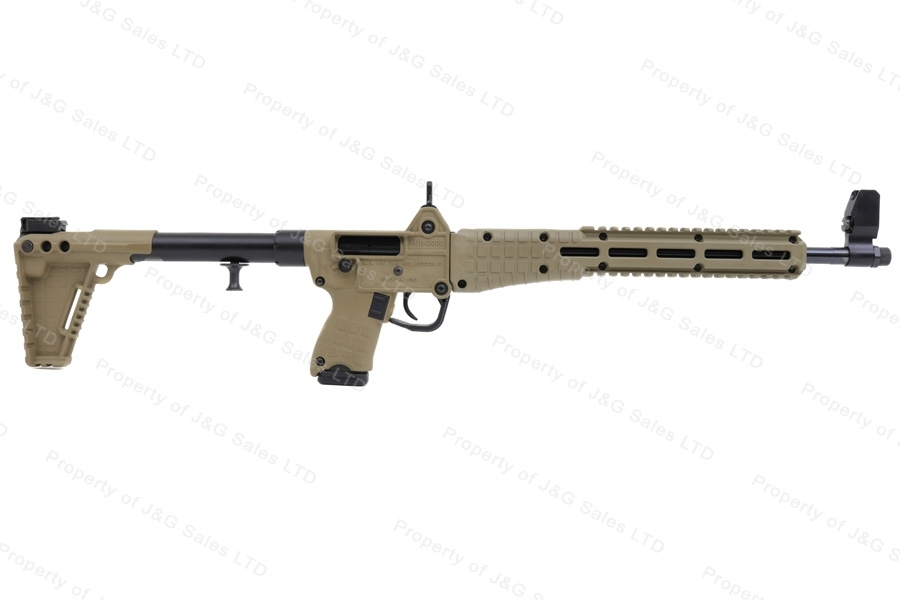 Kel Tec SUB-2000 G2 Semi Auto Folding Carbine, 9mm, Uses Glock 19 Mags, Tan, New.