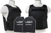 Plate Carrier Vest Discreet Series, with Two Soft Ballistic 10x12 Panels, Level IIIA, 2975 by VISM, Black.