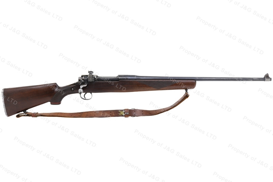 "Enfield 1917 Bolt Action Rifle, 30-06, 26"" Barrel, Sporterized, Winchester Mfg, Cracked Stock, GSS, Used."