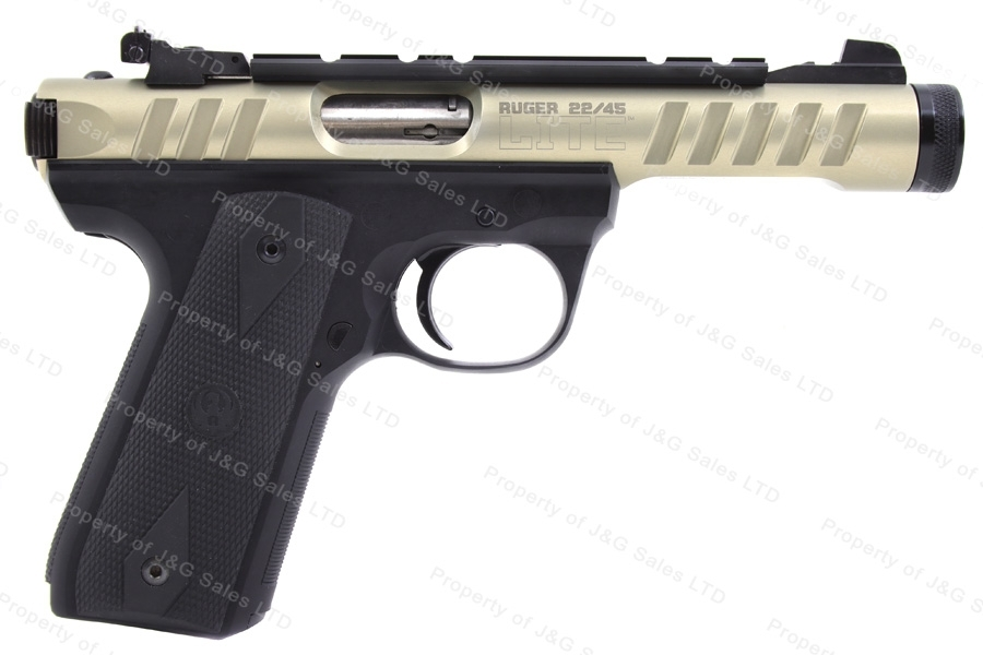 "Ruger® 22/45LITE™ MKIII™ Semi Auto Pistol, 22LR, 4.4"" Threaded Barrel, Gold 1st Year, Excellent, Used"