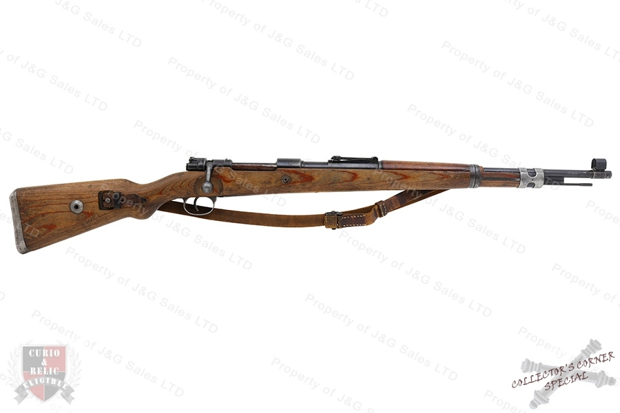 German K98k Mauser Bolt Action Rifle, 8mm (8x57), CE 1942, G-VG, C&R, Used.