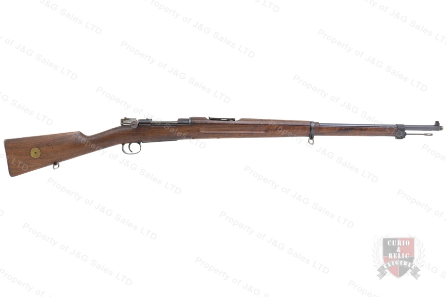 Swedish 1896 Mauser Bolt Action Rifle, 6.5x55 Swede, 29'' Barrel, 1918 Mfg, C&R, Good to VG, Used.