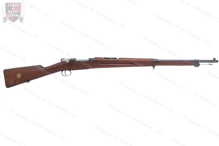 "Swedish 1896 Mauser Bolt Action Rifle, 6.5x55 Swede, 29"" Threaded Barrel, 1916 Mfg, C&R, Good to VG, Used."