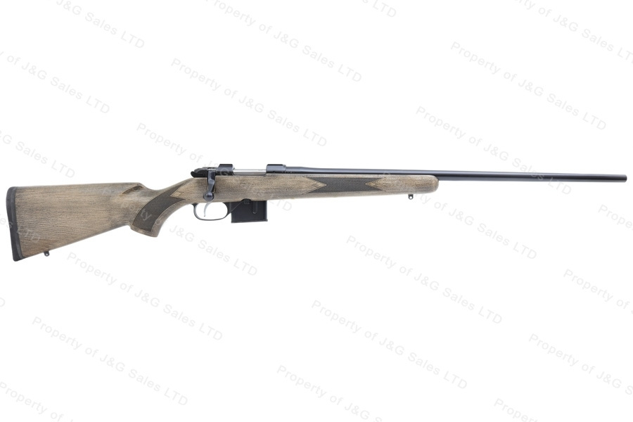 CZ 527 American Bolt Action Rifle, 6.5 Grendel, Rustic Finish Stock, Blued, New.