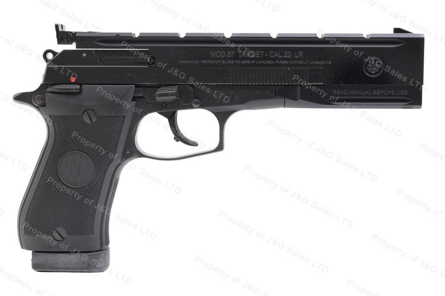 Beretta 87T Target Model Semi Auto Pistol, 22LR, Adjustable Sights, New.