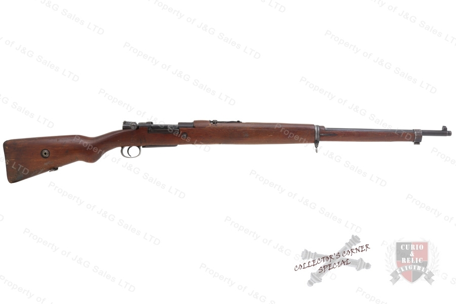 "Turkish 1893 Mauser Bolt Action Rifle, 8X57, 29"" Barrel, C&R, G-VG, Used."