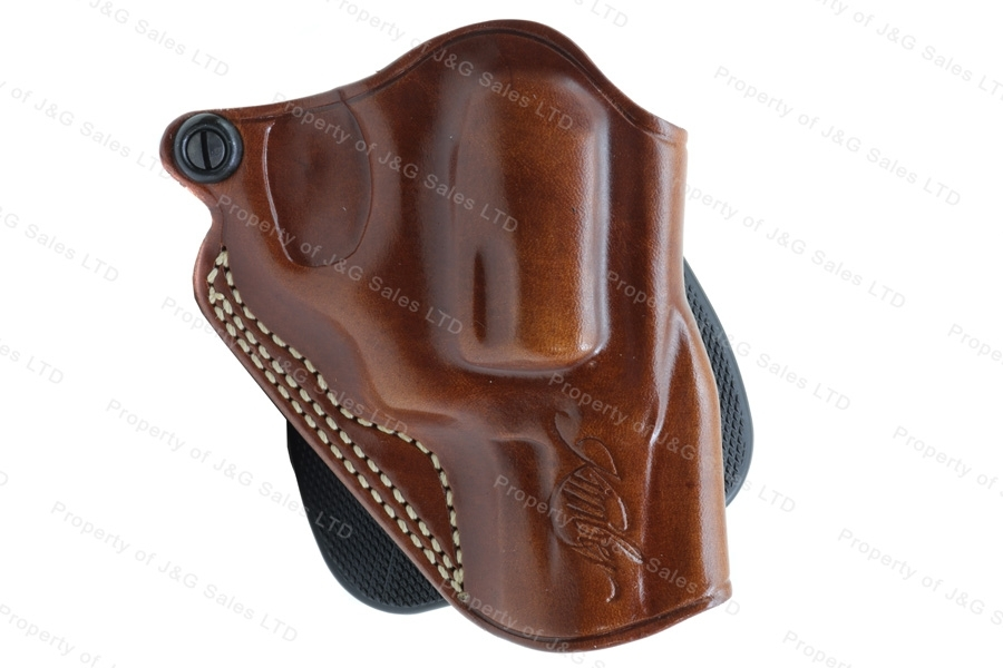 "Glaco SPD Paddle Holster for Kimber K6S, Tan, RH, Fits 2"" and 2 1/4"" barrel, Revolvers."