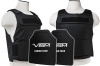 Plate Carrier Vest Discreet Series, with Two Hard Ballistic Rifle 11x14 Panels, Level III+, 2975 by VISM, Black.