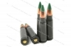 7.62x39 Green Tracer FMJ Ammo, 10rd pack.