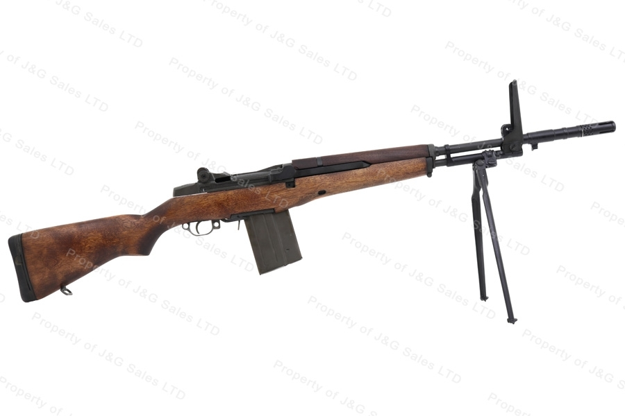 "JRA Beretta BM59 Semi Auto Rifle, 308/7.62x51, 19.5"" Barrel, BM-59 Grenade Launcher Sight, Bipod, Used."