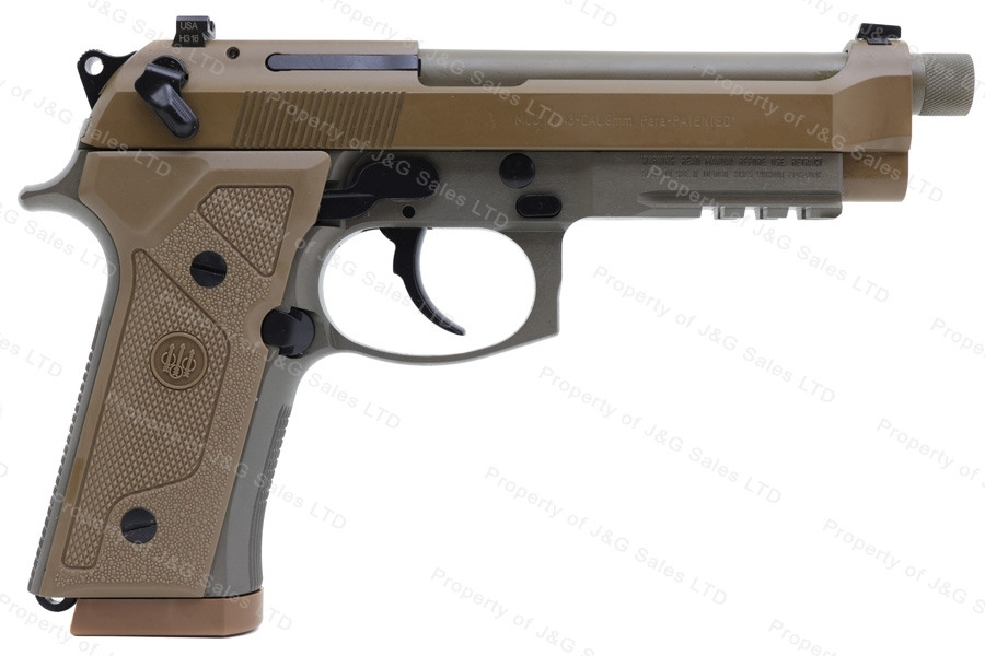 "Beretta M9A3 Semi Auto Pistol, 9mm, 5"" Threaded Barrel, FDE, New."