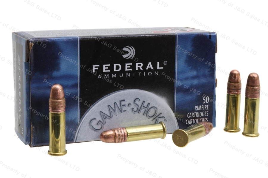 22LR Federal 40gr Copper Plated Solid High Velocity Ammo, 50rd Box.  710