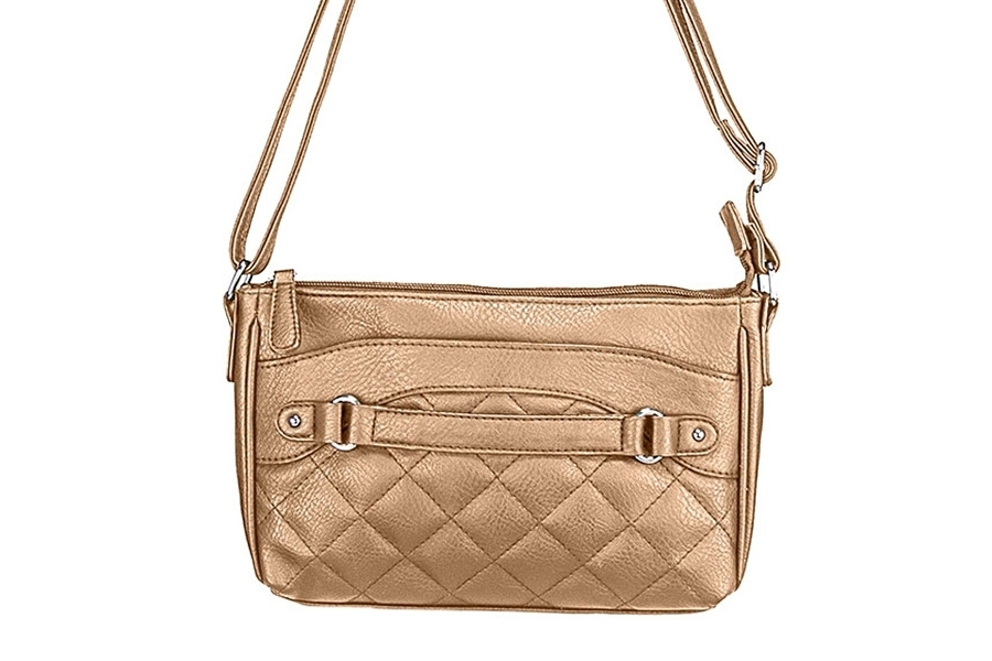 VISM Concealed Carry Purse BWS002, Crossbody Quilted, Brown.