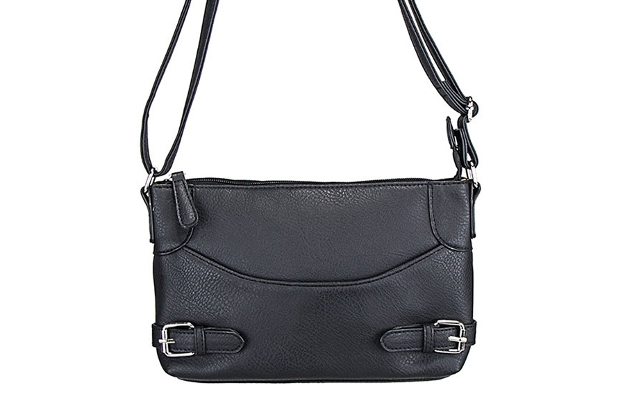 VISM Concealed Carry Purse BWU001, Crossbody Smooth, Black.