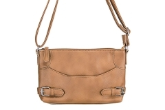 VISM Concealed Carry Purse BWU002, Crossbody Smooth, Brown.