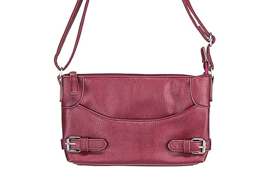 VISM Concealed Carry Purse BWU003, Crossbody Smooth, Red.