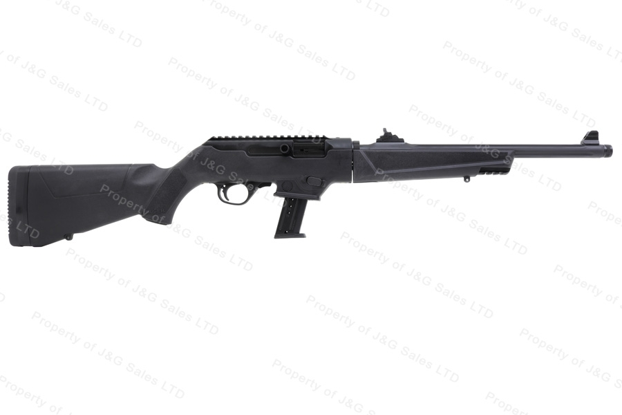 Ruger® PCC-9 Takedown Semi Auto Carbine, 9mm, 17rd Mag, Threaded Fluted Barrel, Ghost Ring Sights, New.