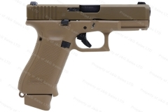 Glock 19X 9mm Semi Auto Pistol, Coyote Tan, Night Sights, New.