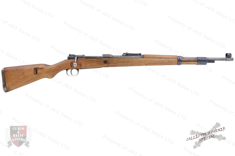 "Mauser K98k Bolt Action Rifle, 8x57, ""byf"", Iraqi ""Jeem"" Property Marked, C&R, G-VG, Used."