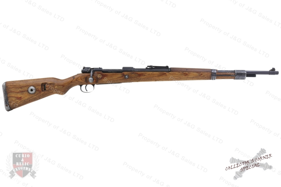 "Mauser K98k Bolt Action Rifle, 8x57, ""S/147"" Iraqi ""Jeem"" Property Marked, C&R, G-VG, Used."