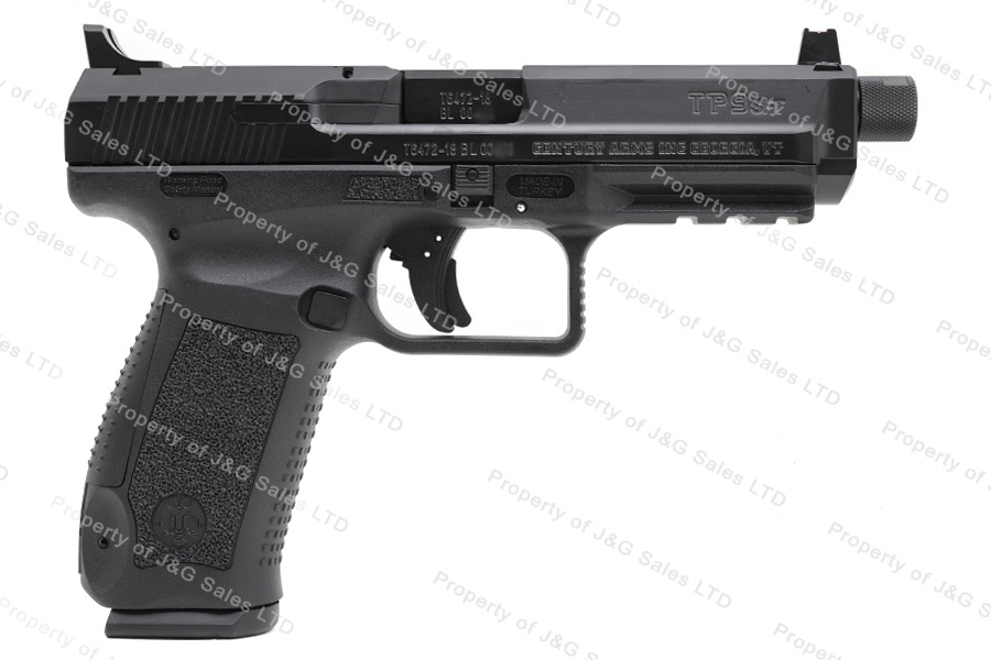"Canik TP-9SFT 9mm Semi Auto Pistol, Single Action TP9SFT, Black, 5"" Threaded Barrel, by CAI, New."