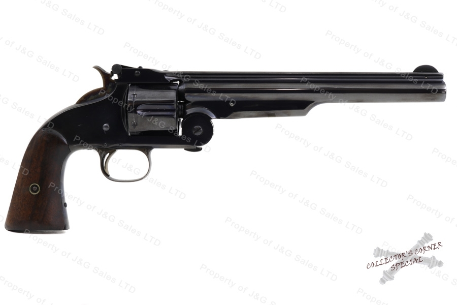 "Smith & Wesson Model 3 1st model Russian Top Break Revolver, 44 Russian, 8"" Barrel, Antique Non-Firearm, GSS, Used, S&W."