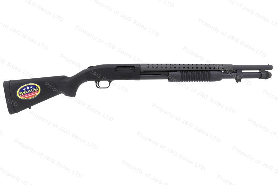 "Mossberg 590 Persuader Pump Action Shotgun, 12ga, 20"" Barrel, Heat Shield, New."