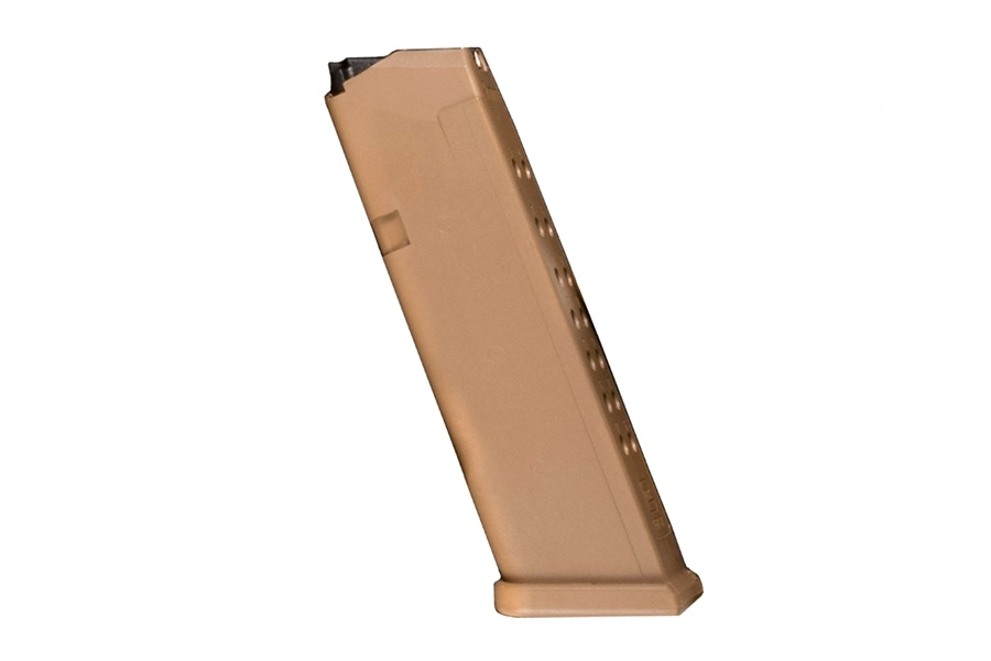 Glock 19X & 17 9mm 17rd Factory Magazine, Coyote Tan, New.