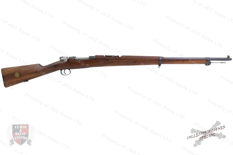 "Swedish 1896 Mauser Bolt Action Rifle, 6.5x55 Swede, 29"" Barrel, 1909 Mfg, C&R, G-VG, Used."