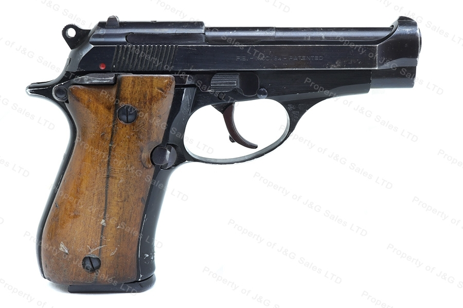 "Beretta 84 ""Cheetah"" Semi Auto Pistol, 380ACP, Blued, Wood Grips, G-VG, Used."