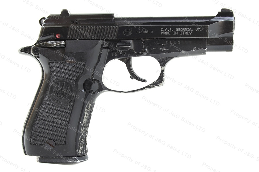 "Beretta 84F ""Cheetah"" Semi Auto Pistol, 380ACP, Blued, Black Grips, G-VG, Used."
