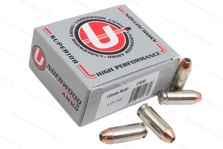 10mm Underwood Ammo 155gr XTP JHP, 20rd box.