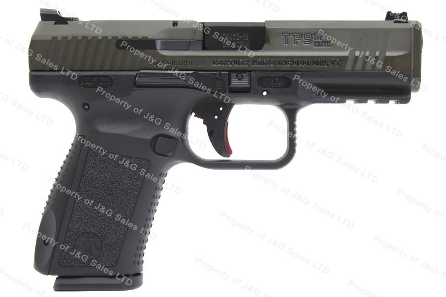 Canik TP-9SF Elite 9mm Semi Auto Pistol, Single Action TP9SF, Green/Black, By CAI, New.