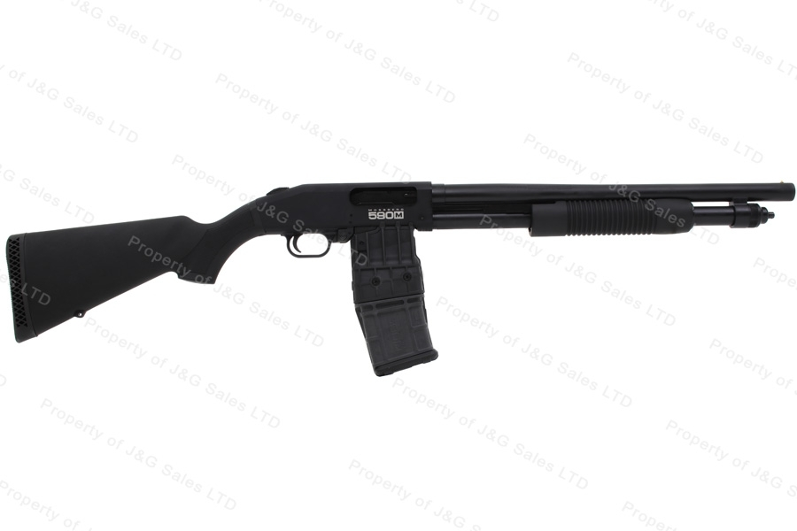 "Mossberg 590 Pump Action Shotgun, 12ga, 18.5"" Barrel, Mag Feed, Blued, New."