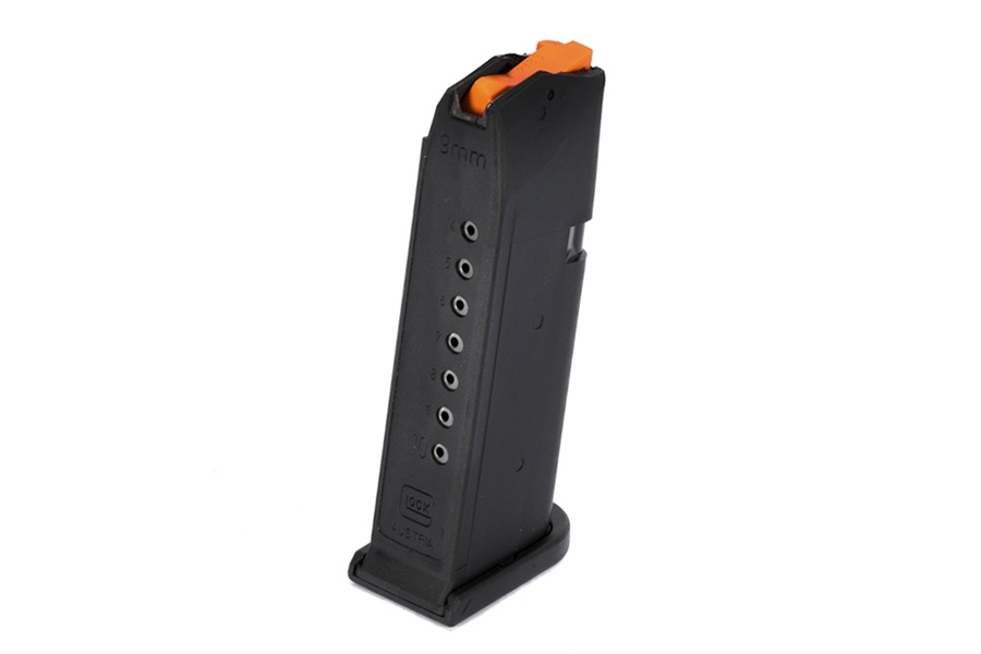 Glock 19 9mm 10rd Gen 5 Factory Magazine, Black, New.