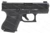 Glock 26 9mm Gen 5 Semi Auto Pistol, Night Sights, nDLC Finish, Black, New.