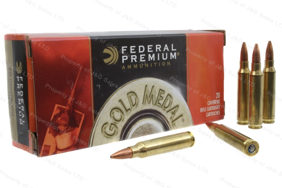 223 Federal Gold Medal 77gr BTHP, 20rd box.