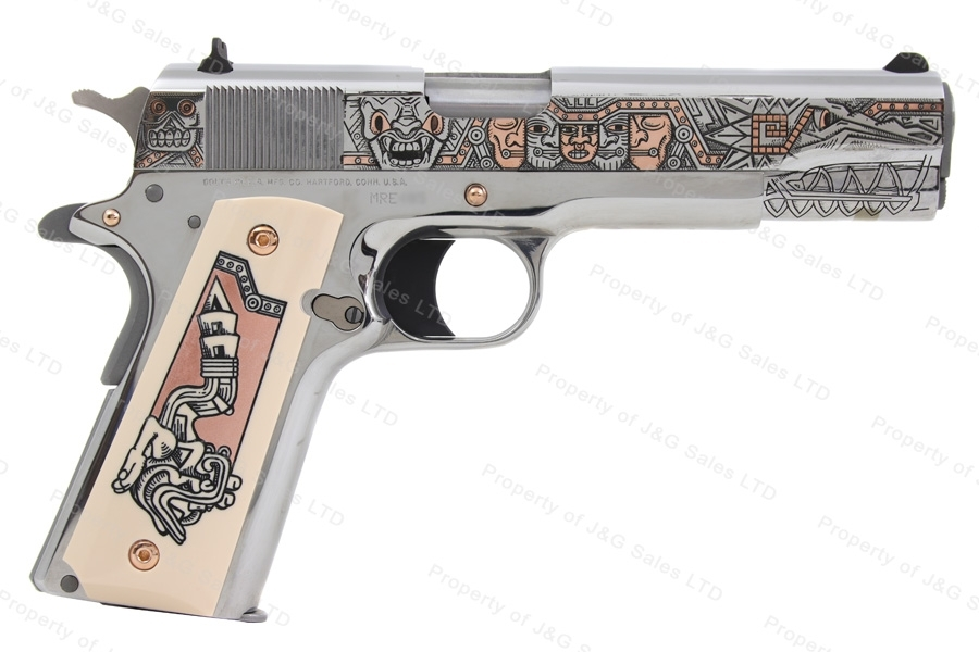 "Colt 1911 Government Mexican Heritage Semi Auto Pistol, 38 Super, 5"" Barrel, New."