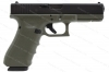 Glock 22 40S&W Gen 4 Semi Auto Pistol, Green Frame, Black Slide, New.
